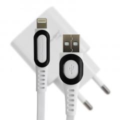 Сетевое зарядное устройство Konfulon C27 USB 3.0 A (White) + Lightning