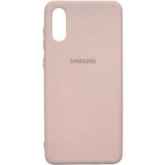 Чехол Silicone Case Samsung A02 (бежевый)