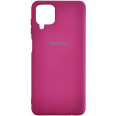 Чехол Silicone Case Samsung A12 (бордовый)