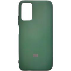 Чехол Silicone Case Poco M3/Redmi 9T (темно-зеленый)