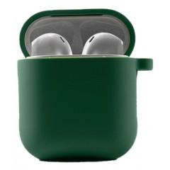 Чехол для AirPods 1/2 с микрофиброй (зеленый)