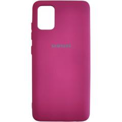 Чехол Silicone Case Samsung Galaxy A51 (бордовый)