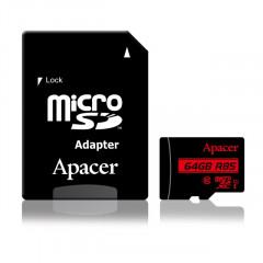 Карта памяти Apacer micro SDXC UHS-I 85R 64gb (10cl) + adapter