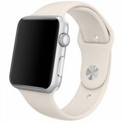 Ремешок силиконовый для Apple Watch 42/44mm (бежевый)