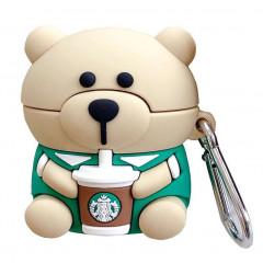 Чехол для AirPods Teddy Bear (Медведь / бежевый)