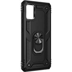 Чехол Serge Ring + подставка Xiaomi Redmi Note 10/ Note 10S (черный)