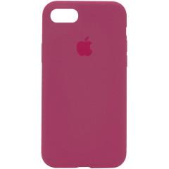 Чехол Silicone Case iPhone 7/8/SE 2020 (розово-красный)