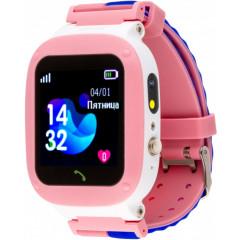 Детские умные часы AmiGo GO004 Splashproof Camera LED (Pink)