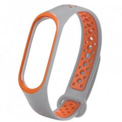 Ремешок для Xiaomi Band 5/6 Mijobs Sport (gray-orange)