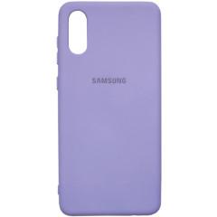 Чехол Silicone Case Samsung A02 (лавандовый)