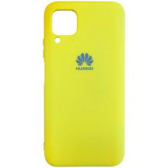 Чехол Silicone Case Lite для Huawei P40 Lite (желтый)