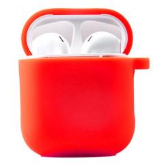 Чехол для AirPods 1/2 с микрофиброй (красный)