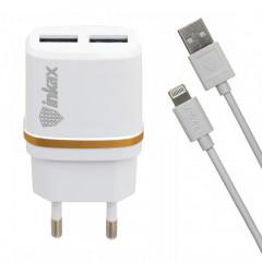 Сетевое зарядное устройство Inkax CD-11 + кабель Lightning (White)