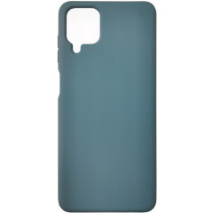Чехол Silicone Case Samsung A12 (темно-зеленый)