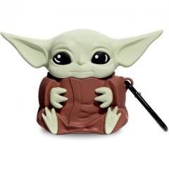 Чехол для AirPods StarWars Force с карабином (Baby Yoda)
