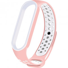 Ремешок для Xiaomi Band 5/6 Mijobs Sport (Sand Pink -White)