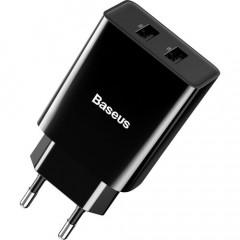 Сетевое зарядное устройство Baseus Speed Mini Dual U 10.5W (Black)