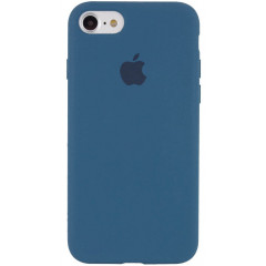 Чехол Silicone Case iPhone 7/8/SE 2020 (морской синий)