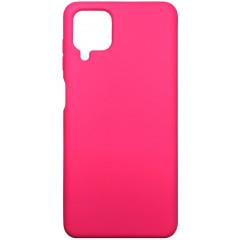 Чехол Silicone Case Samsung A12 (ярко-розовый)