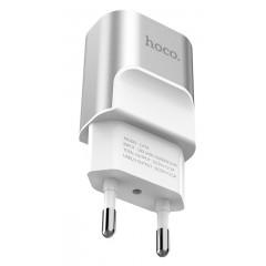 СЗУ Hoco C47A 2.1A 2USB (серебряный)