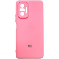 Чехол Silicone Case Xiaomi Redmi Note 10 Pro (розовый)
