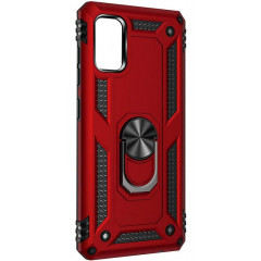 Чехол Serge Ring + подставка Xiaomi Redmi Note 10/ Note 10S (красный)