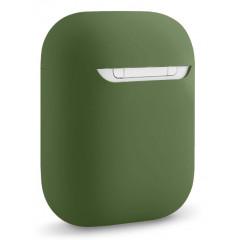 Чехол для Airpods силиконовый (темно-зеленый)