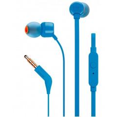 Вакуумные наушники-гарнитура JBL Tune 110 (Blue)