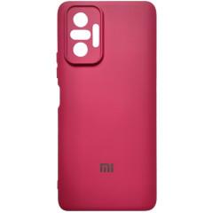 Чехол Silicone Case Xiaomi Redmi Note 10 Pro (бордовый)