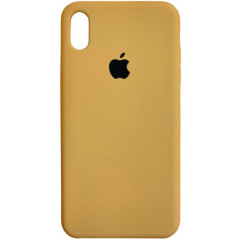 Чехол Silicone Case iPhone Xs Max (горчичный)