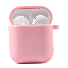 Чехол для AirPods 1/2 с микрофиброй (розовый песок)