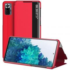 Чехол-книжка Smart View Cover Xiaomi Redmi Note 10 Pro (красный)