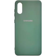 Чехол Silicone Case Samsung A02 (темно-зеленый)