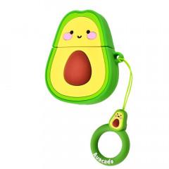 Чехол для AirPods Smile Fruits series с кольцом (Авокадо)