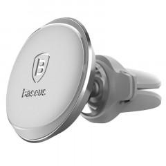 Автомобильный держатель магнитный Baseus Magnetic Air Vent with cable clip (Silver) SUGX-A0S
