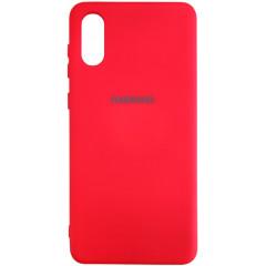 Чехол Silicone Case Samsung A02 (красный)
