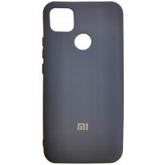 Чехол Silicone Case Xiaomi Redmi 9C (темно-синий)