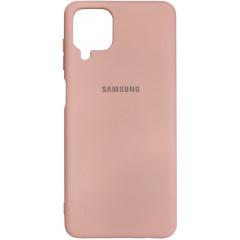 Чехол Silicone Case Samsung A12 (бежевый)