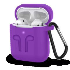 Чехол для AirPods Colors с карабином (фиолетовый)