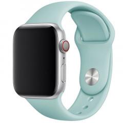 Ремешок силиконовый для Apple Watch 42/44mm (бирюзовый)