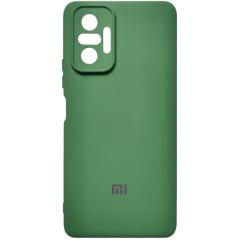 Чехол Silicone Case Xiaomi Redmi Note 10 Pro (темно-зеленый)