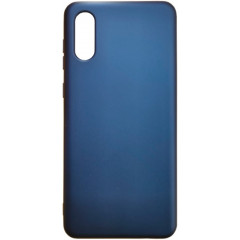 Чехол Silicone Case Samsung A02 (темно-синий)